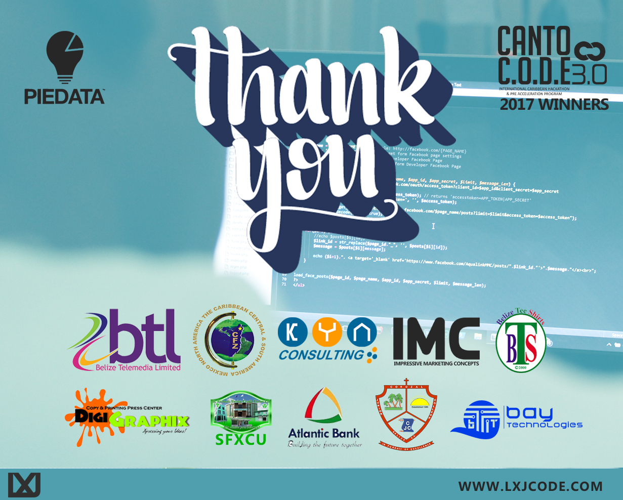 Thank you Sponsors.